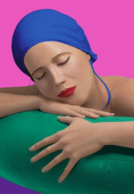 Carole A. Feuerman, 'SERENA WITH BLUE CAP', 2014