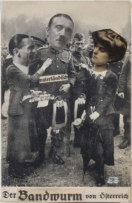 Erwin Blumenfeld, 'Der Bandwurm (The Tapeworm) from Austria (Adolf Hitler)', ca. 1926