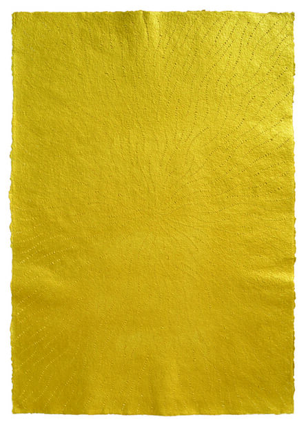 Mohammed Kazem, 'Acrylic on Scratched Paper (Gold)', 2008