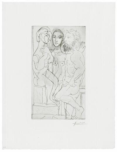 Pablo Picasso, 'SCULPTEUR, MODELE, ET SCULPTURE ASSISE (BLOCH 146)', 1933