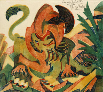 Cyril Power, 'Samson and the Lion', ca. 1932