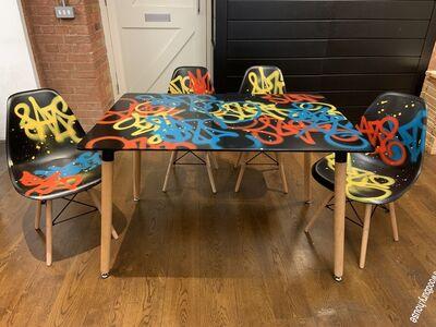 Chris DAZE Ellis, 'Table and Chair Tag Set', 2019