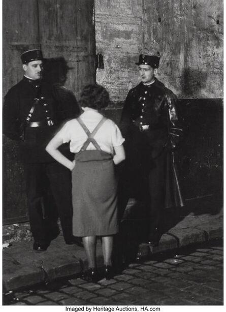 Brassaï, 'Les Agents Avec Une Prostituée', circa 1932
