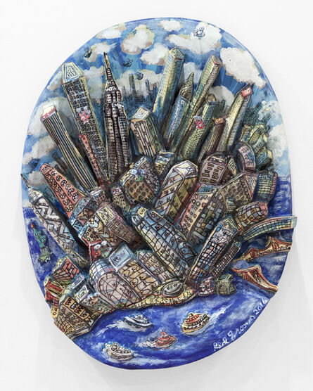 Red Grooms, 'Manhattan Moves Up', 2016