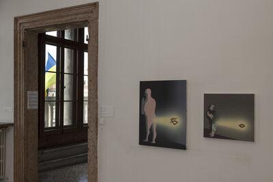 Tala Madani, 'Diptych, Rare projection (Old fashioned shit)', 2013