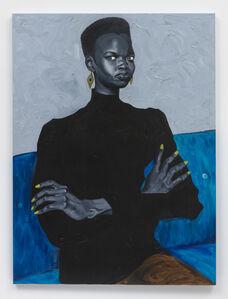 Otis Kwame Kye Quaicoe, 'Nykhor on Blue Couch', 2019