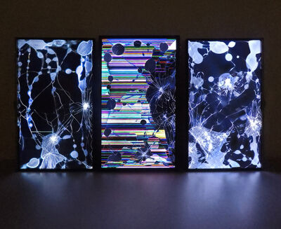 Gordon Berger, 'Screen Network Painting (Triptych)', 2018
