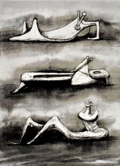 Henry Moore, 'Figures in Snow', 1976-1977