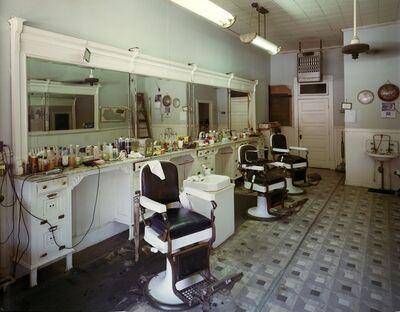 Jim Dow, 'Trib's Barbershop, Route 176, Greenville, Kentucky', 1980