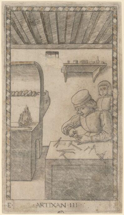 Master of the E-Series Tarocchi, 'Artixan (Artisan)', ca. 1465