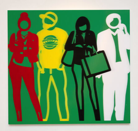 Julian Opie, 'Blue White Black Yellow (from Standing People)', 2020