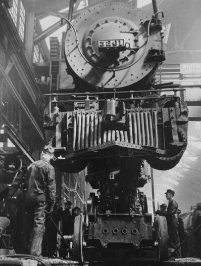Jack Delano, 'Kansas City, Kansas, Santa Fe Railroad Repair Shop', 1943