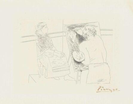 Pablo Picasso, 'Peintre chauve devant son chevalet, from: Le chef-d'oeuvre inconnu', 1927