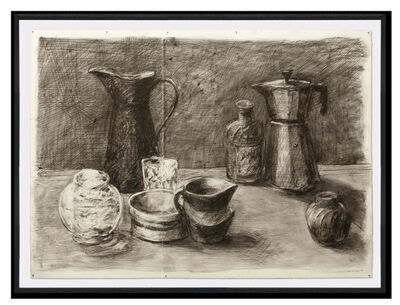William Kentridge, 'Still Life with Black Jug II (Drawing from a Natural History of the Studio)', 2020