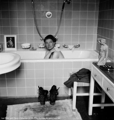 Lee Miller, 'Lee Miller by David Sherman in Munich Hitler's apartment', 1945
