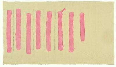 Giorgio Griffa, 'Verticale rosa', 1977