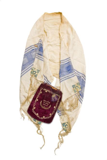 Unknown Artist, 'Tallit, prayer shawl, Palestine, 1910's – 1920's & Tallit bag, Ioannina 1890.'