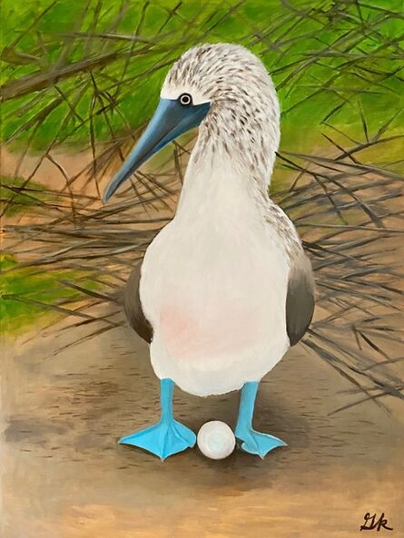Gemma Kahng, 'Blue - Footed Booby with egg', 2020