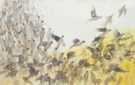Claire Harkess, 'Waxwings Arrival', 2020
