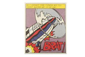 Roy Lichtenstein, 'As I open fire (triptych)'