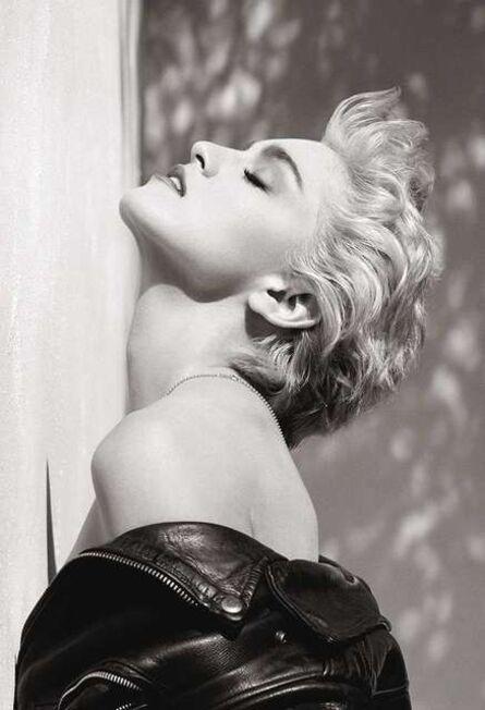 "Herb Ritts, '""Madonna (True Blue Profile)""', 1986"