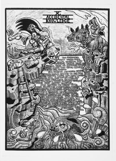 Jay Bolotin, 'X. Accidental Knowledge             The Book of Only Enoch, 2011-2014 A portfolio of 20 woodcuts drawn and cut by Jay Bolotin over a 4 year period', 2011-2014