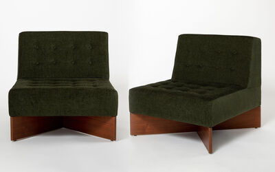 Pierre Guariche, 'Pair of Fireside Chairs - CA21 'Capitole' ', 1960