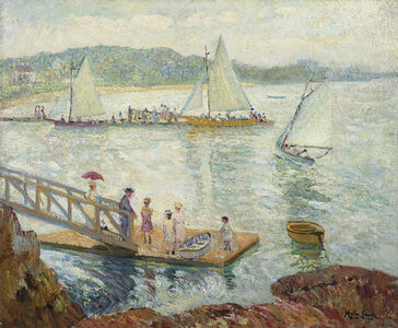 Hayley Lever, 'Figures on a Dock', Date Unknown