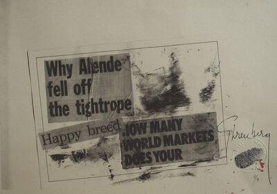 Felipe Ehrenberg, 'Why Allende fell off the tightrope…micropoema neográfico', 1972