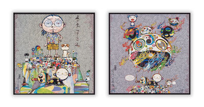 Takashi Murakami, 'With Eyes on the Reality of One Hundred Years from Now and Chaos (two works)', 2013