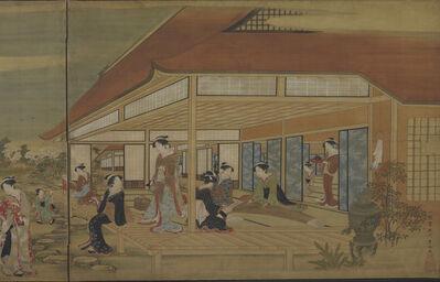 Utagawa Toyoharu, 'Pastimes of a Spring Afternoon. Japan, Edo period (1615–1868)', ca. 1781–89