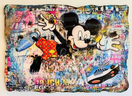 Adriano Cuencas, 'I Love my Supreme Sneakers (Mickey Mouse)', 2020