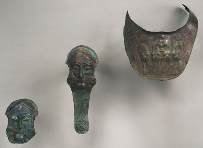 'Group of Armor for Horses: Prometodpidia (2) and Breastplates (2)', ca. 480 BCE