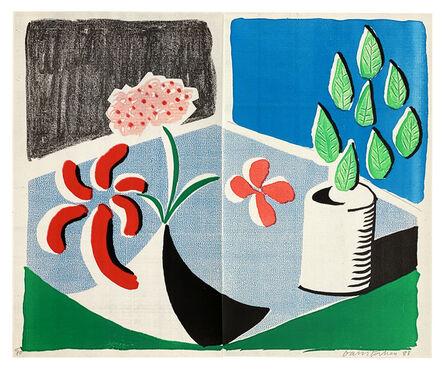 David Hockney, 'Red Flowers & Green Leaves, Separate, May', 1988