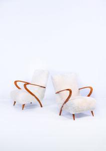 Guglielmo Ulrich, 'Pair of armchairs', vers 1950