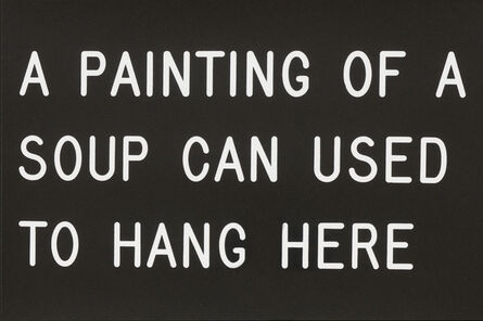 William Anastasi, 'A Painting of a Soup Can Used to Hang Here (229/250)', 1991