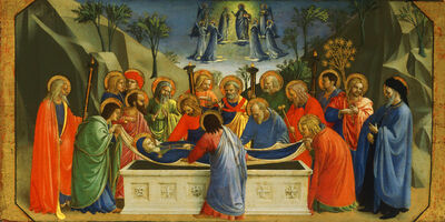 Fra Angelico, 'Burial of the Virgin', about 1425