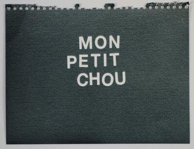 Betty Tompkins, 'Mon Petit Chou (black)'
