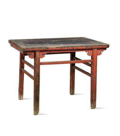 Unknown Chinese, 'A red lacquered softwood rectangular table', Japan: Shanxi province-17th century