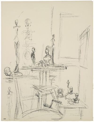 Alberto Giacometti, '[Sculptures in the Studio IX] Paris sans fin, plate 100, before 1965', 1969