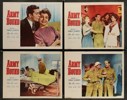 Anon, 'ARMY BOUND 6 Lobby Cards '52 wacky images of Stanley Clements, king of the speedways!', 1952