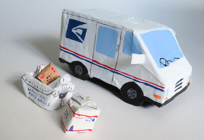 Polly Shindler, 'Mail Truck with Packages ', 2020