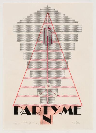Henri Chopin, 'Party. Men', 1975
