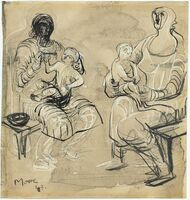 Henry Moore, 'Madonna and Child studies', 1943