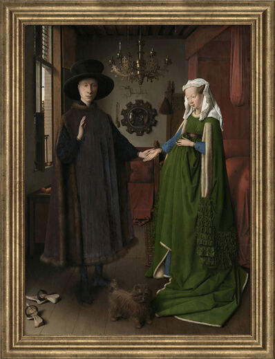 Jan van Eyck, 'Portrait of Giovanni Arnolfini and his Wife', (Date unknown)