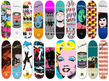 Andy Warhol, 'Collection of 20 skateboard decks', 2010-2015
