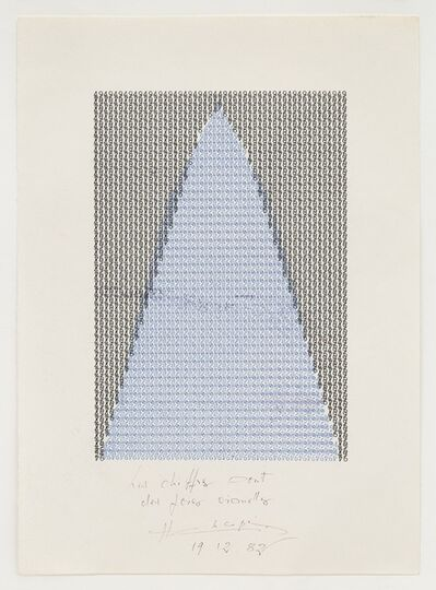 Henri Chopin, 'Les chiffres sont des foies visuelles', 1975