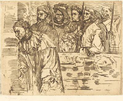 Alphonse Legros, 'Archers (Les archers)', 1862