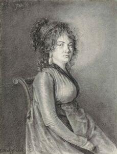 Louis-Gabriel-Eugéne Isabey, 'A seated lady'