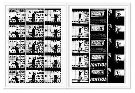 William Klein, 'Film Strips from Broadway by Light #1 & #2', 1958